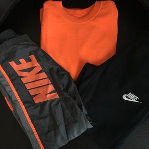 2 Pairs of Nike Warmup Pants and Long sleeve shirt